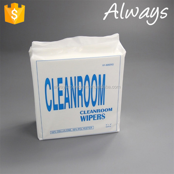 55%cellulose/45%polyester spunlace cleaning cloths/cleanroom wiper/industrial fabric