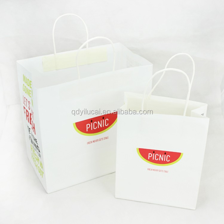 Yilucai custom fast food takeaway kraft paper bag