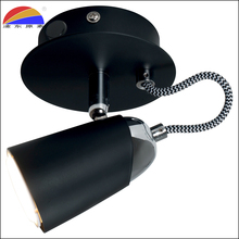 Iron black chrome swivel spot light spotlight leeslamp lamp voor slaapkamer fix GU10 led lamp met directionele hoofd