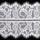 16.5cm Double Scalloped Edges Nylon Eyelash Decorative Lace Trim