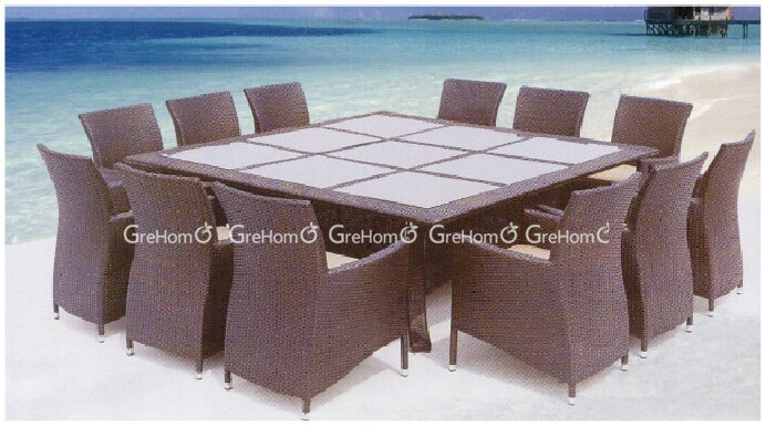 product detail outdoor rattan furniture imported  seater pool dining table for sale
