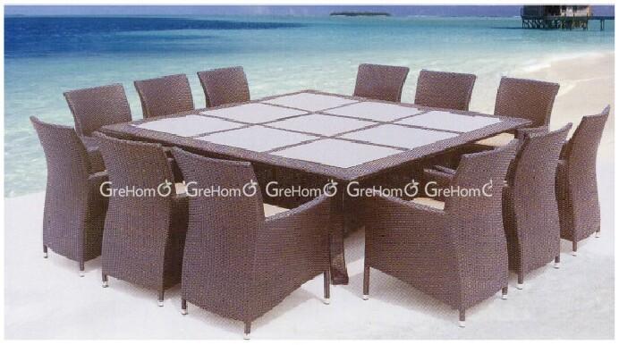 Meubles en rotin extérieur importé 12 places piscine table à manger pour vendre buy importé à manger table12 places à manger tablerotin table à manger
