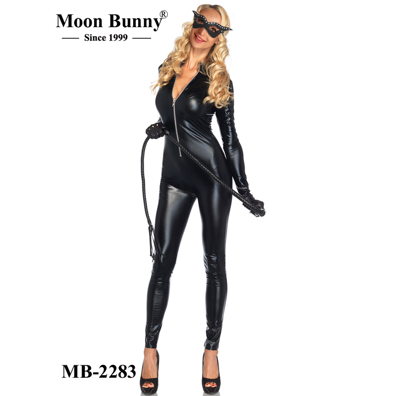 WET LOOK KITTY CATSUIT COSTUME KIT sexy cat animal cosplay fancy dress costumes wholesalers