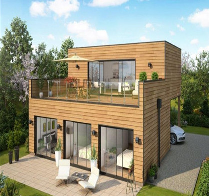 light yellow wood grain container home