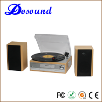 Automatic retro radio multiple record player with PC Link and LP play function