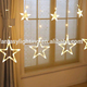 Twinkle LED String Light Multi Color Christmas Decoration Wedding Iclicle Star Curtain Wall Light