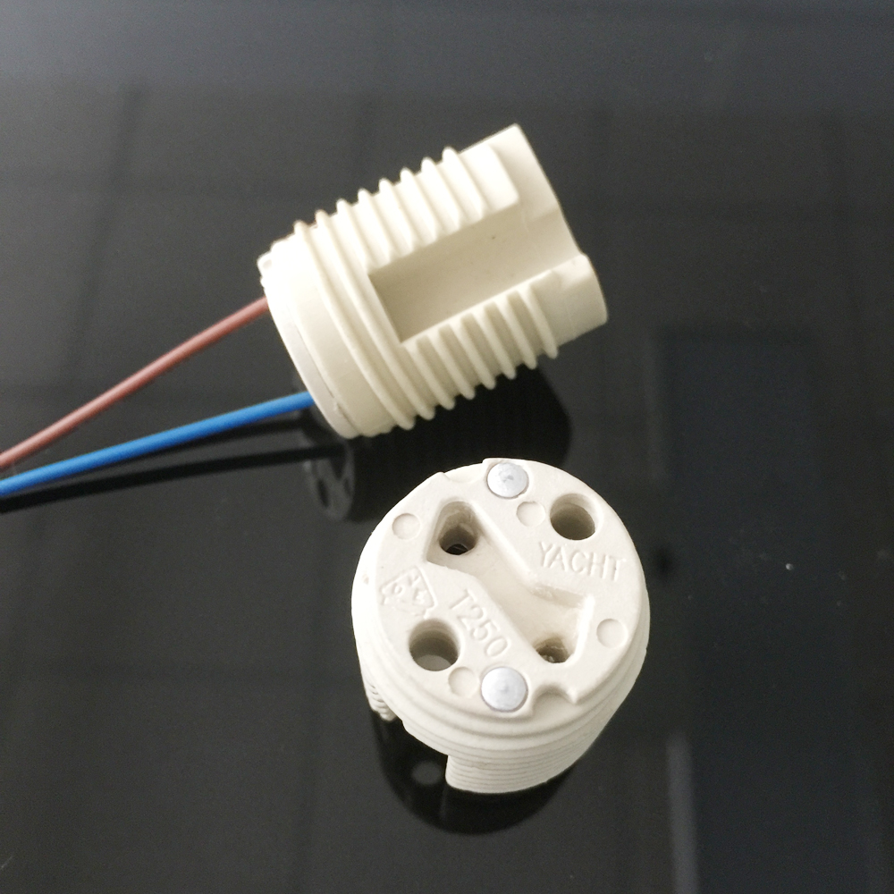 Porcelain ceramic LED GU10 lamp socket