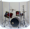 Custom Acrylic Drum Screen Drum Panels Drum Shield with Flexible Hinges Wholesales