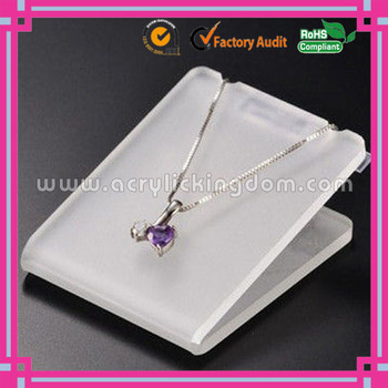 L Shape Frosted Acrylic Jewelry Display Case,Plexiglass Necklace ...