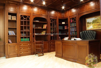 Custom design best selling corner wooden bookcase oak