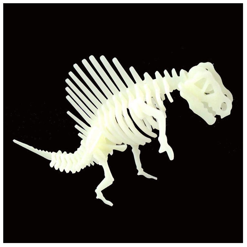 KOBWA 3d Dinosaur Puzzles Glow-in-the-Dark 3-D Toy Figurine, Dinosaur Skeleton Jigsaw Puzzle Intelligence Practice for Kids Boys Girls