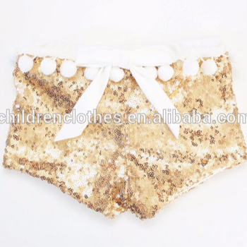 Gold Sequin Shorts For Children Child Panty Models Panties For Little Girls Fashion Shorts