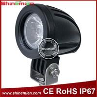10W 6500K BLACK ROUND LED 30 / 60 Degree SPOT/Flood Beam Work Light