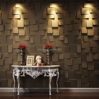 bamboo fiber material interior wave 3d wood wall panel