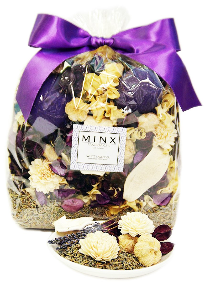 CYBER MONDAY WEEK DEAL! White Lavender Scented Potpourri by MINX Fragrances Large Bag! | Relaxing Scent for Stress Relief | Great Gift idea!