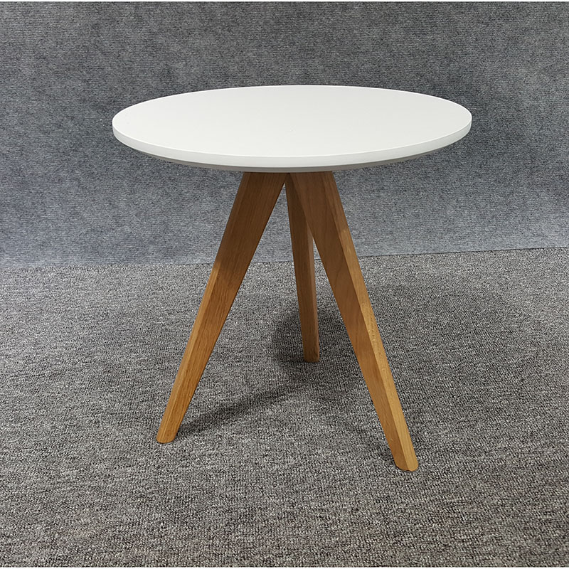 Home furniture 25mm MDF E1 Simple Small  Round Wood leg Coffee Table Set