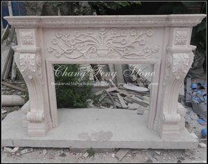 Hand Carved Marble Fire place (Stock)
