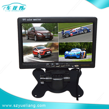 New design HD Car 7 inch TFT LCD Quad Monitor with 4 Way Video Input