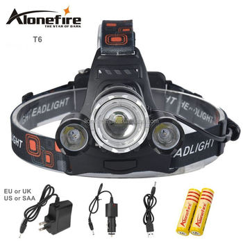 AloneFire HP23 8000Lm zoom Led lighting Head Lamp T6+2R5 LED Headlamp Headlight Camping Fishing Light +2*18650 battery+charger