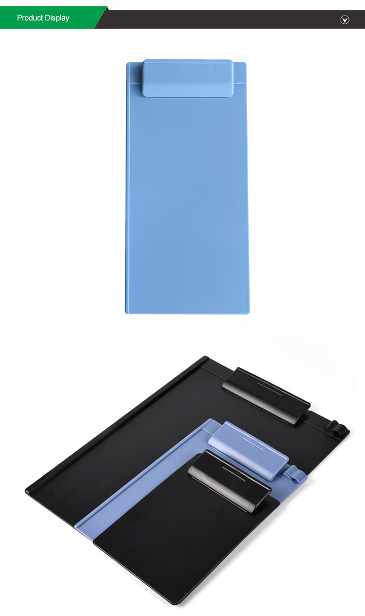promotional long wholesale bulk plastic clipboards black