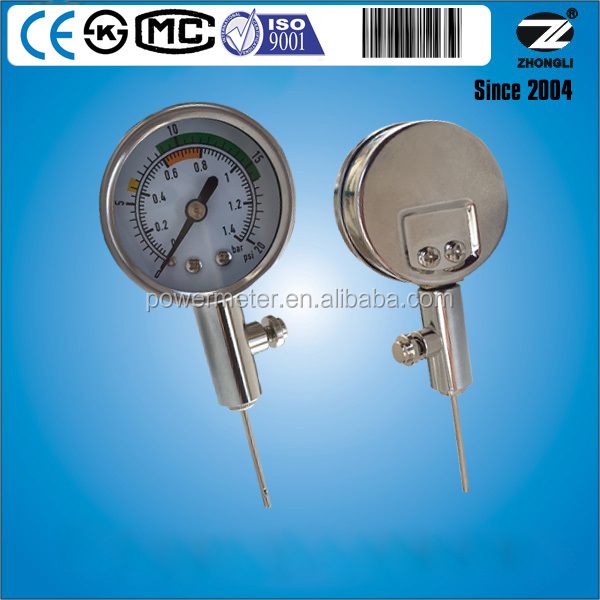 Auto ball air pressure gauge range 1.4bar 20psi diameter 1.5inch can customise
