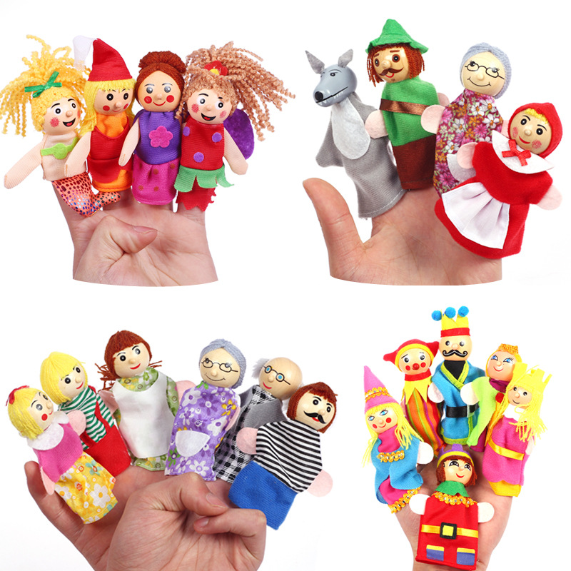 lovely mini stuffed plush animal human puppets finger doll toys