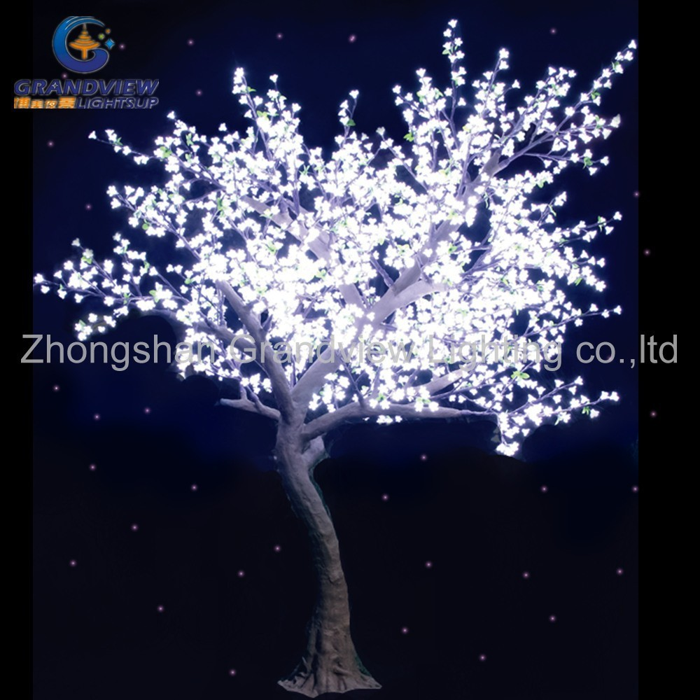 White color nature looking autumn led maple tree for Lumiere de jardin led