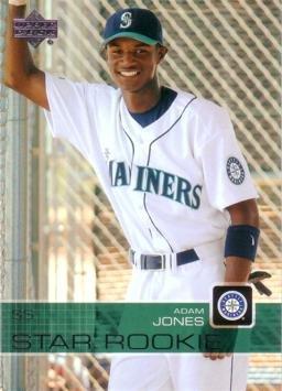 2003 Upper Deck Prospect Premieres Baseball #7 Adam Jones Rookie Card