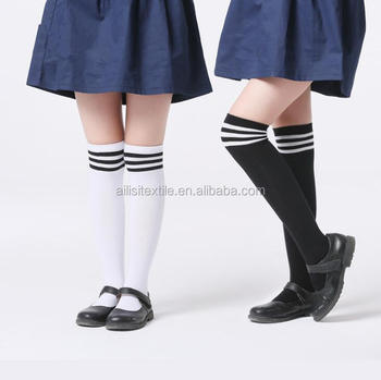 16df90c8f9830 Custom School Girl Knee High Socks With Stirp,School Uniform Socks ...