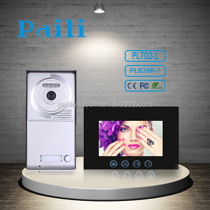 Smart Home 7 Inch Security Ultra-slim touch Screen Color villa video intercom system