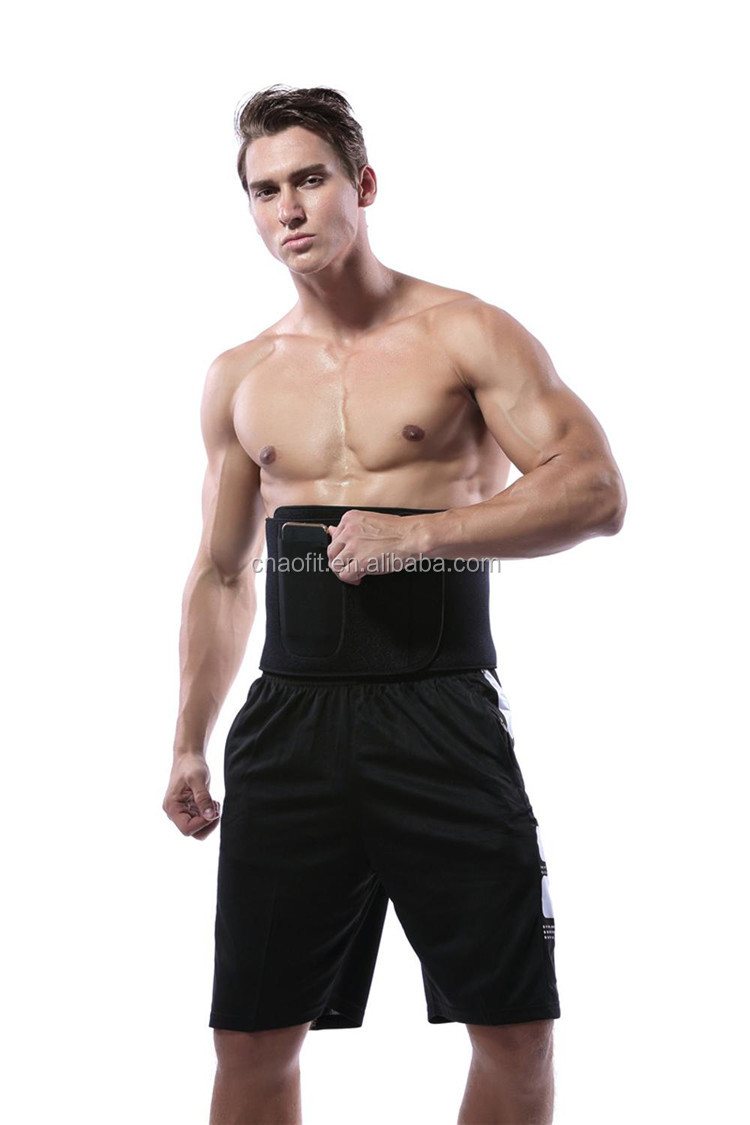 Workout Abdominal Trainers Waist Trimmer Exercise Wraps with Pocket for Cell Phone
