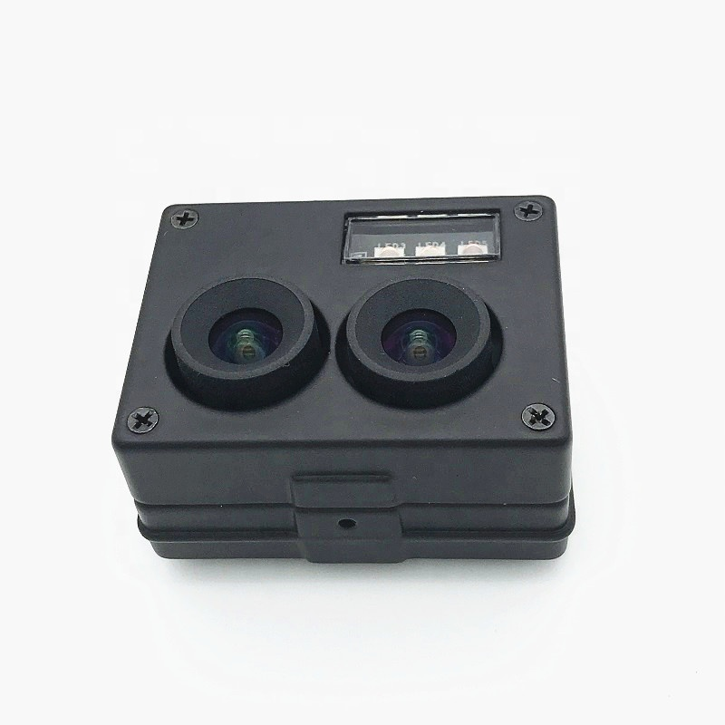 Dual Lens 1080P 3D Stereo VR HD Camera,RGB/ & B/W Mode USB2.0 Video Webcam for Face Recognition & Biological Detection