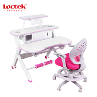 Loctek CD002 gas spring lift table sit stand desk adjustable height table children kids study desk