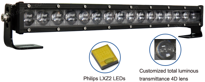 High Power Tow Truck Led Light Bar 26 Inch 4d Fish Eyes Ar Roof ...