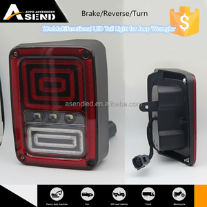 New USA version and EURO version led multifunctional tail light turn signal running black bezel led tail light for jeep jk
