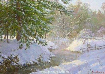 La Neve Paesaggio Dipinto Ad Olio - Buy Product on Alibaba.com