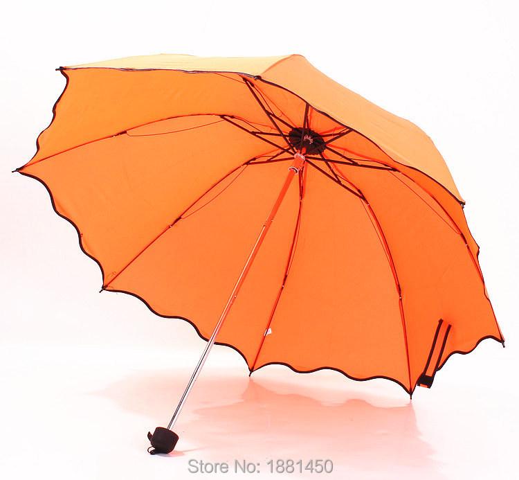 Раскладной ветрозащитный против ультрафиолетовый прозрачный / дождь корейский кружево принцесса зонтик зонтик
