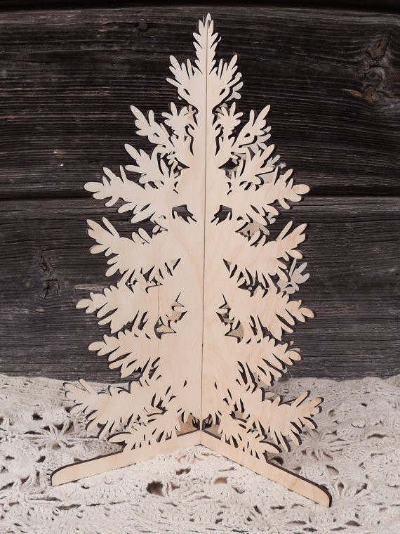laser cut Christmas alpine tree