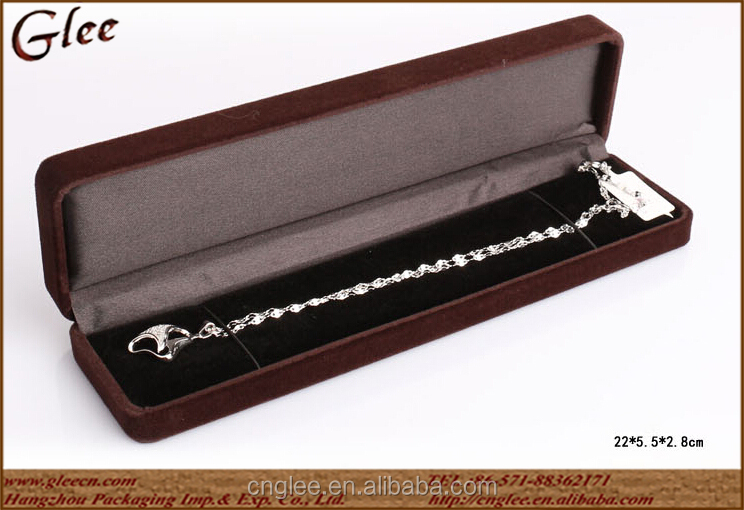 Good quality OEM Merchandising jewelry velvet display box for ring/necklace/earring