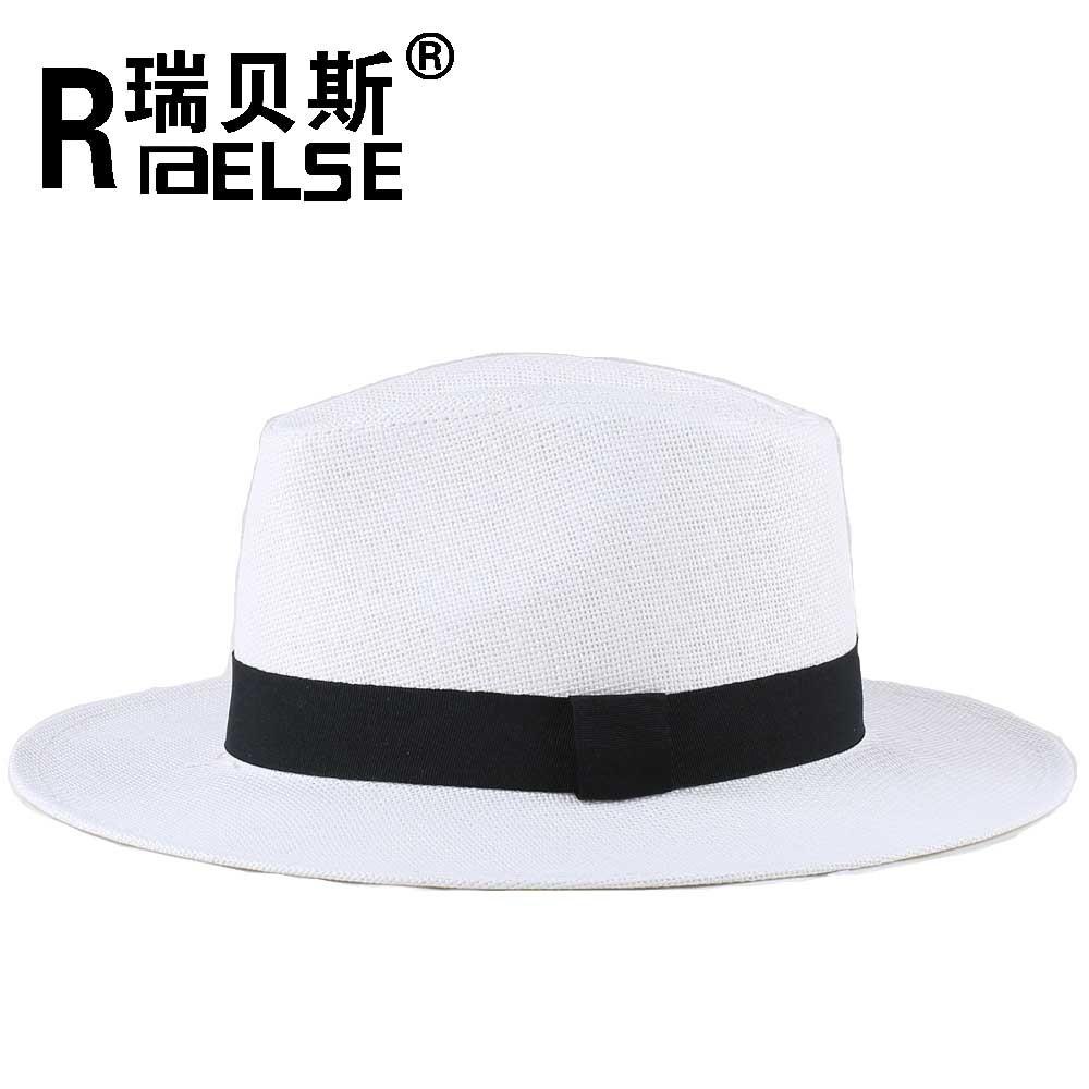 cb3c69d2 cheap wholesale plain white panama hat unisex men women paper straw fedora  hat