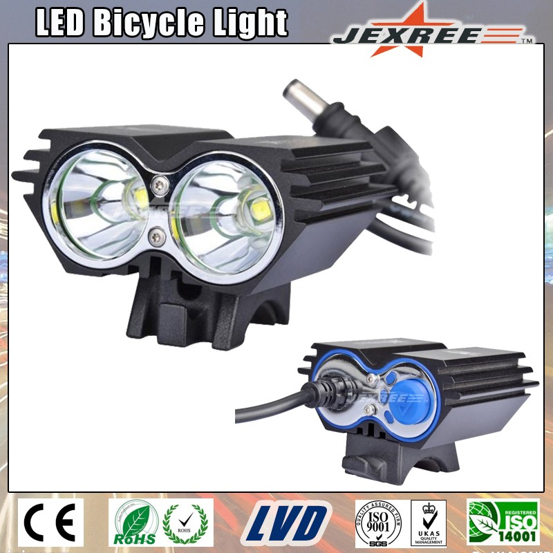 Handlebar Mounting 2000lm High Bright 2 LEDs Bike Light