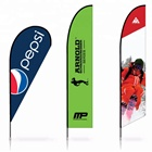 Open House Feather Shape Two Sides Customized Printing Flying Promotional Flag Advertising Flag