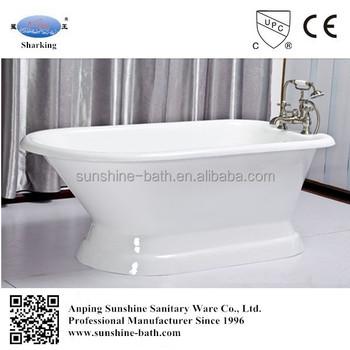 White Enamel Soaking Tub 60 66 Inches Small Freestanding Bathtub Low Price Retro Bathtub Buy Retro Bathtub Small Freestanding Bathtub White