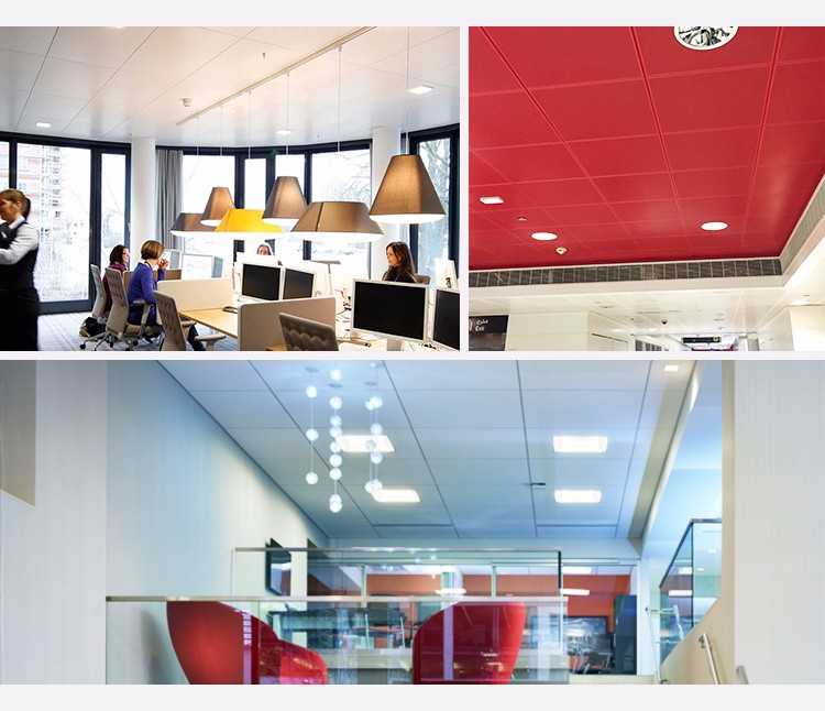 SGS Certificated Fashion Aluminum Types Of Ceiling Materials