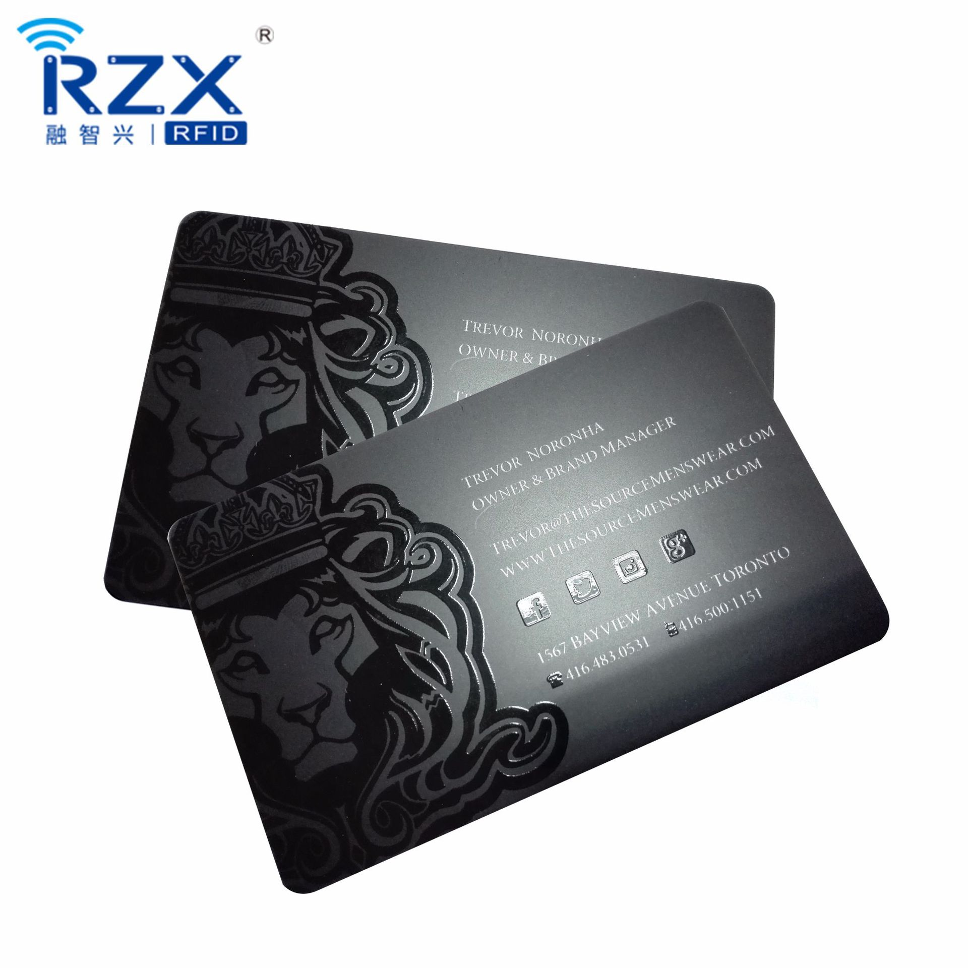 Plastic CR80 UV SPOT Matte Finish Barcode Gift Membership Card For Promotion