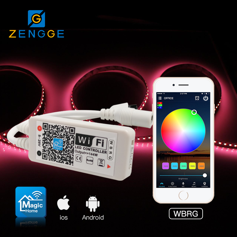 2018 newest product,Free APP WiFi led dimming controller rf remote wireless for smd led ribbon strip