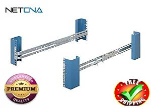 RackSolutions Third Party Rail Kit - rack rail kit - 2U- With Free NETCNA Printer Cable - By NETCNA
