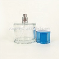 New mould magnetic glass cylinder round shaped transparent perfume bottle 100ml