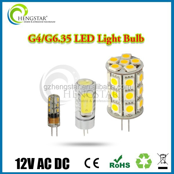 G4,g6.35 led lamp 2015 hot sale 1.5w 12v ac dc good quality ra80 ce rohs best price ,g4 led 12v 6w