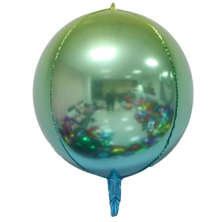 New gradient aluminum balloons party decoration color wedding / party decoration balloon